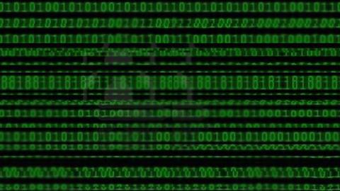Wall of Green Binary Code CG動画素材