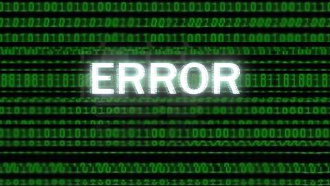 Computer Data Error Animation