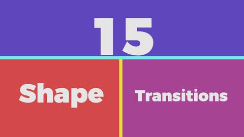15 Shape Transitions Premiere Proテンプレート