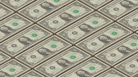 Dollar bills money background. Portrait of George Washington Printing money loop Footage