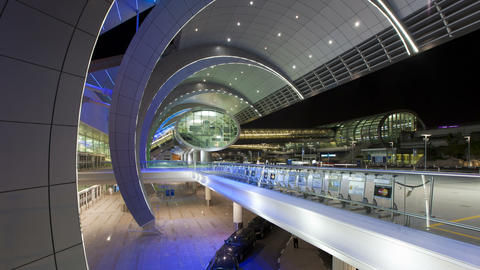 People arriving and departing from dubai international airport with a futur Footage