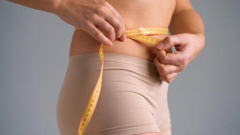 Healthy waist with measuring tape Footage