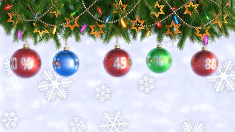 Christmas sale. post-Christmas discounts. Seamless loop. 3D render Footage