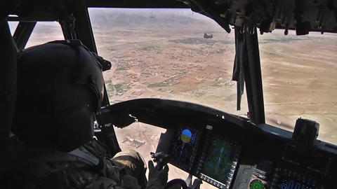 Pilots fly ch 47f chinook helicopters Live Action