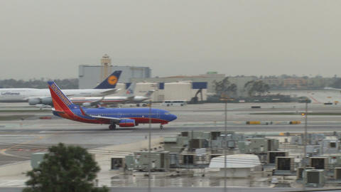 Plane taking off from los angeles Footage