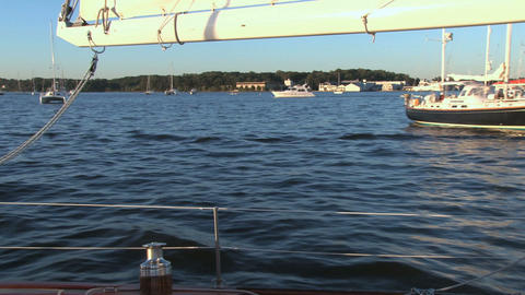 Sailing in the harbor Live Action
