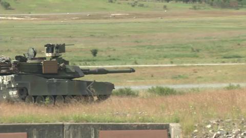 Tanks firing their guns Footage