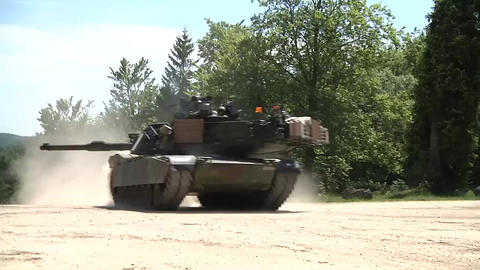 Soldiers opfor position attacked by us armor tank Live Action