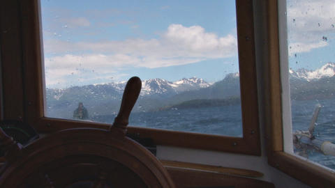 View from captains cabin Stock Video Footage