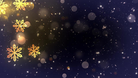 Winter Bokeh Background 08 Animation