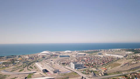 General view of Sochi Park in the Adler from a bird's-eye view. Venue 2018 World Footage