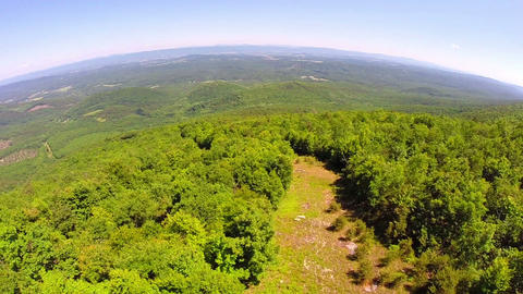 Aerial shenandoah valley blue ridge mountains Footage