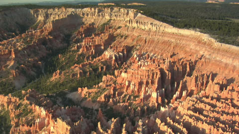 Aerial shot of bryce canyon national park wide shot Live Action