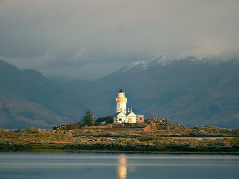 Famous Isle Ornsay with Lighthouse tower, Isle of Skye, Scotland, UK Photo