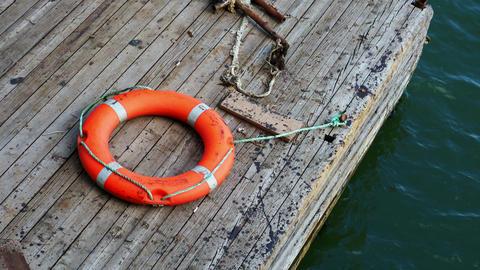 Lifebuoy on the pier Image