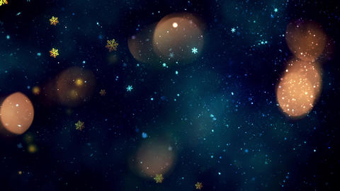 Winter Bokeh Background 04 Animation