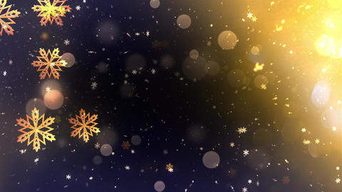 Winter Bokeh Background 06 Animation