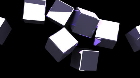 Metal Cubes Abstract On Black Background CG動画
