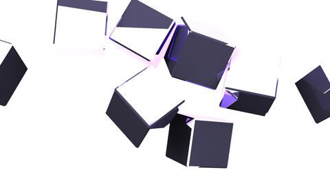 Metal Cubes Abstract On White Background CG動画
