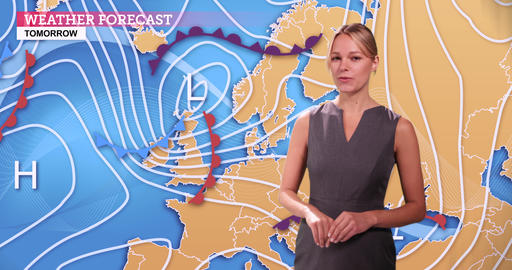 Weather forecast in a green screen studio Live Action