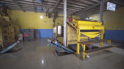 Heavy factory machine at a tea processing plant in Sri Lanka Footage