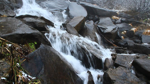 Hoverlyanski cascade waterfall in October Footage
