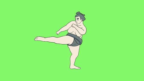 Sumo wrestler Ⅷ 1 Animación