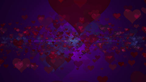Abstract background with hearts Archivo
