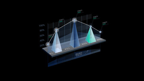 3D Infographic Element with Alpha Channel. Version with numbers 애니메이션