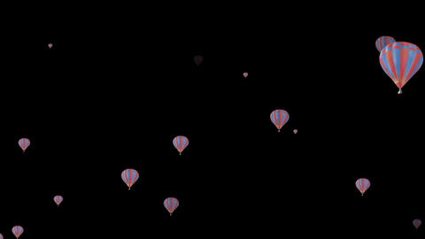 Floating ballon particles folder After Effects Template