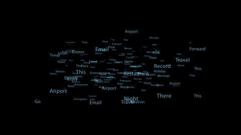 Floating random text Particles After Effects Template