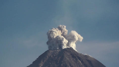 Explosive eruption from the summit of Colima volcano in Mexico Footage