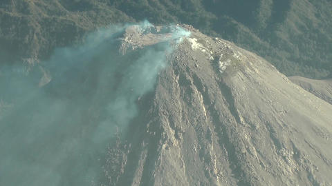 Aerial view of the summit of Colima volcano in Mexico Footage