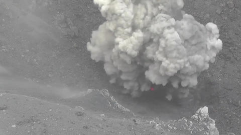 Ash venting and explosive eruptions on Dukono volcano, Indonesia Live Action