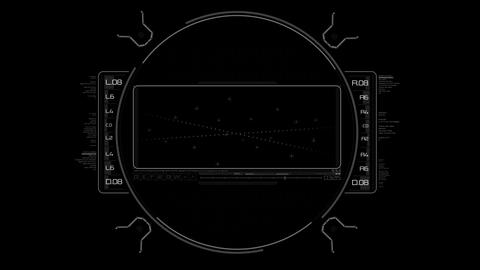 Futuristic High Tech Display Scanner Hud Target with... Stock Video Footage
