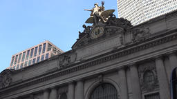 USA New York City Manhattan East 42nd Street roof of Grand Central Station Footage
