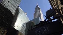 USA New York City Manhattan Chrysler Building and Grand Hyatt hotel Footage