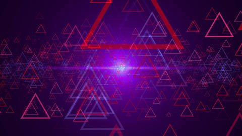 Abstract background with outline triangles Live Action
