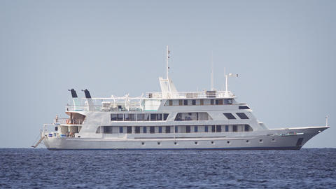 Yasawa Princess. a small cruise ship. anchored off Maafushi Island. Maldives Footage
