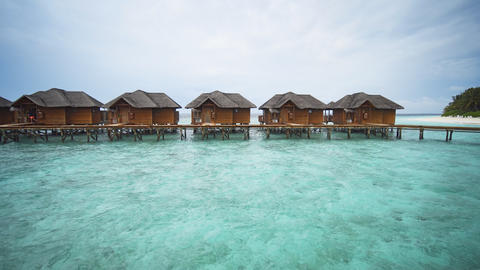 Exotic. Private Bungalows over the Water in the Maldives Live Action