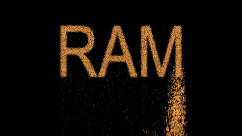 constellation of a RAM appears from the sand, then crumbles. Alpha channel Animation