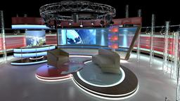 Virtual TV Studio Chat Set 1 3D Model