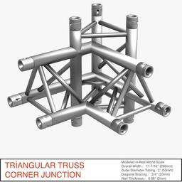 Triangular Truss Corner Junction 102 3Dモデル