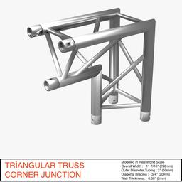 Triangular Truss Corner Junction 107 3Dモデル