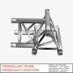 Triangular Truss Cross T Junction 84 3D Model