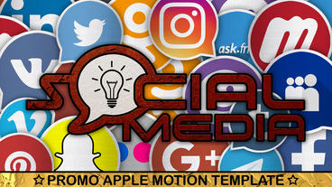 Social Media Promo Apple Motion Template