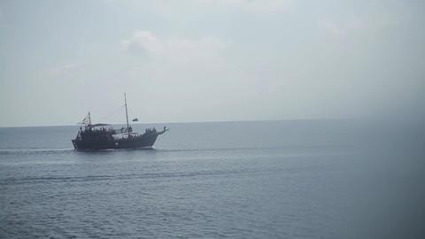 Tourist Pleasure Yacht, Stylized Pirate Ship Footage