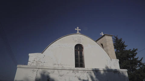 White Building Of The Christian Church stock footage