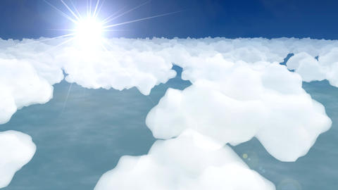 Flying above clouds abstract cartoon aeroplane airplane sky stratosphere 4k Live Action