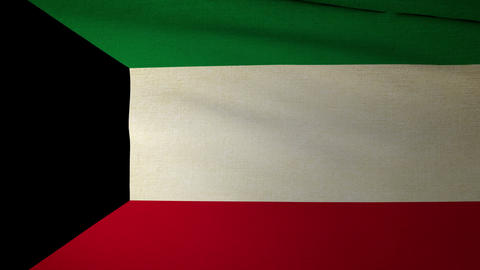 Flag Kuwait 04 Animation